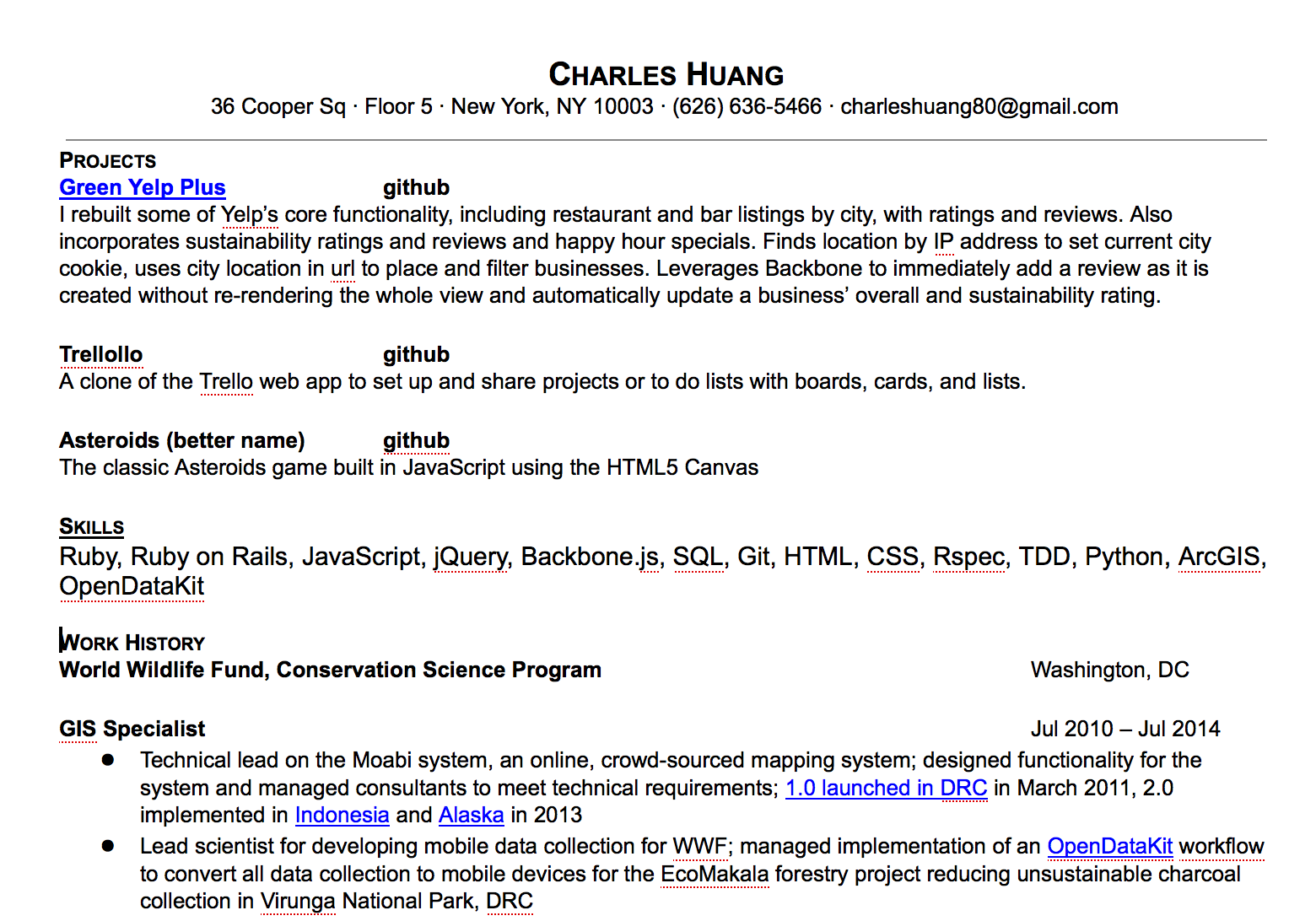 charles huang web developer
